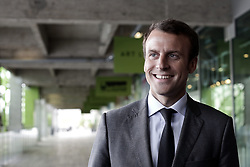 French Minister of Economy, Recovery of Productivity and Digital Affairs Emmanuel Macron takes part to the General Assembly of Electronic Business Group,(EBG). in Paris on June 23, 2015. Photo by Stephane Lemouton/ABACAPRESS.COM