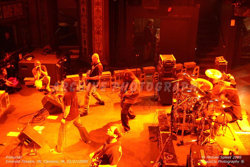 MT. CLEMENS, MI, THURSDAY, JAN. 17, 2008: Primortal,  at Emerald Theatre, Mt. Clemens, MI, 01/17/2008. (Image Credit: Michael Spleet / 2SnapsUp Photography)
