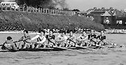 Chiswick. London.<br /> Eights starting from Mortlake<br /> Burway RC.<br /> 1987 Head of the River Race over the reversed Championship Course Mortlake to Putney on the River Thames. Saturday 28.03.1987. <br /> <br /> [Mandatory Credit: Peter SPURRIER;Intersport images] 1987 Head of the River Race, London. UK
