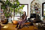 Fashion designer Erica Tanov at her home on Tuesday, Oct. 3, 2017, in Berkeley, Calif.