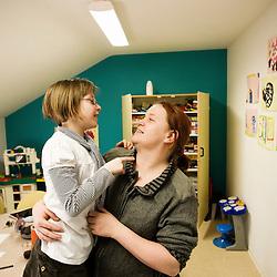Maison de rencontre, ou les parents peuvent venir voir leurs enfants de temps en temps. La Chaumiere, Maison d'enfants à caractere social. Vilcey-sur-Trey (54), France. 10 mars 2010. Photo : Antoine Doyen