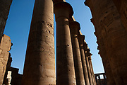 Columns at the Great Hypostyle Hall in the Temple of Amun, Karnak Temple complex, Luxor