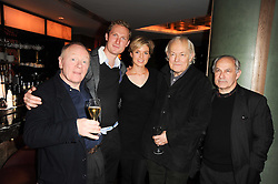 Left to right, DAVID SHAW-PARKER, SAM HOARE, ISABELLA ANSTRUTHER-GOUGH-CALTHORPE, MICHAEL PENNINGTON and NICHOLAS WOODESON at 'Heavenly Ivy' a play to commemorate 20 years of The Ivy Restaurant, held at The Ivy, West Street, London on 8th November 2010.
