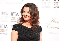 Presenter Deirdre O'Kane at the 2017 IFTA Film & Drama Awards at the Round Room of the Mansion House, Dublin,  Ireland Saturday 8th April 2017.