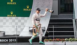 21.06.2015, Red Bull Ring, Spielberg, AUT, FIA, Formel 1, Grosser Preis von Österreich, Rennen, im Bild Sieger Nico Rosberg, (GER, Mercedes AMG Petronas F1 Team) // Winner Nico Rosberg, (GER, Mercedes AMG Petronas F1 Team) // during the Race of the Austrian Formula One Grand Prix at the Red Bull Ring in Spielberg, Austria, 2015/06/21, EXPA Pictures © 2015, PhotoCredit: EXPA/ JFK