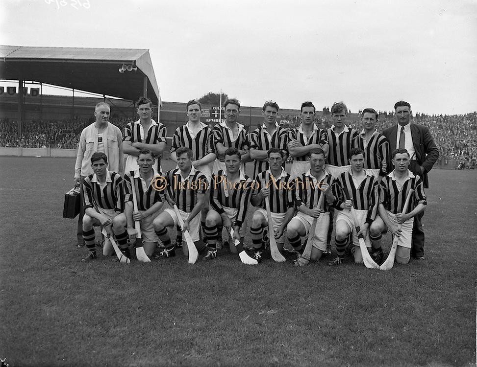 04/08/1957<br /> 08/04/1957<br /> 4 August 1957<br /> Leinster Final: Wexford v Kilkenny at Croke Park, Dublin. Kilkenny Team.
