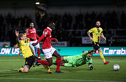 Nottingham Forest's Arvin Appiah scores his side's second goal of the game during the Carabao Cup, Fourth Round match at the Pirelli Stadium, Burton.