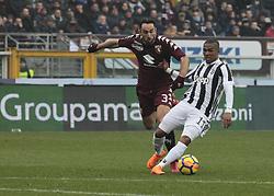 February 18, 2018 - Turin, Italy - Douglas Costa during the Serie A match between Torino FC and Juventus at Stadio Olimpico di Torino on February 18, 2018 in Turin, Italy. (Credit Image: © Loris Roselli/NurPhoto via ZUMA Press)