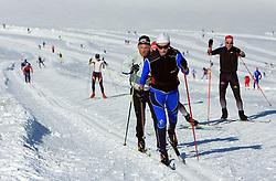 Nordic skiers, on October 22, 2008, glacier Dachstein, Ramsau, Austria. (Photo by Vid Ponikvar / Sportida).