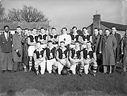 12/02/1954<br /> 02/12/1954<br /> 12 Feburary 1954<br /> Inter- university soccer: Collingwood Cup Semi Final: UCC v Queens University at Grangegorman, Dublin.