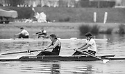 Staines, GREAT BRITAIN,   <br /> Womens Pair competing in the  British Rowing Women's Heavy Weight Assessment. Thorpe Park. Sunday 21.02.1988,<br /> <br /> [Mandatory Credit, Peter Spurrier / Intersport-images] 1987 GBR Women's H/Weight Assesment Thorpe Park, Surrey.UK