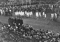H2489<br /> Opening of Tailteann Games. Picture of various teams parading. 1932 (Part of the Independent Newspapers Ireland/NLI Collection)