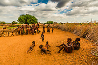 Hamer tribe village, Omo Valley,  Southern Nations Nationalities and People's Region, Ethiopia.