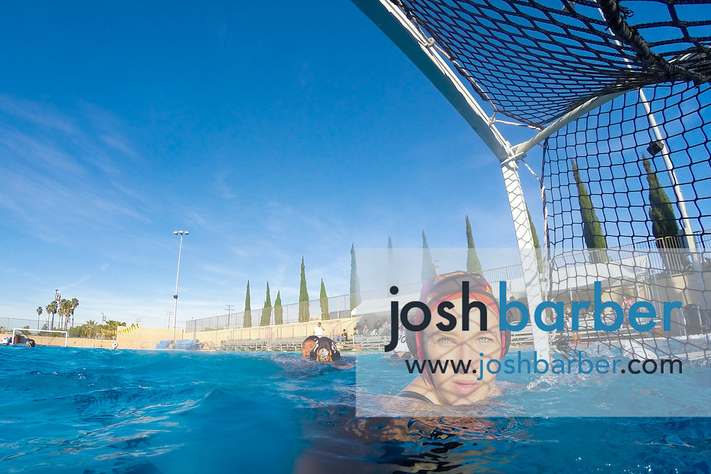 during non-league girls water polo at Ocean View High School on Wednesday, Dec. 9, 2015 in Huntington Beach, California. (Photo/Josh Barber)