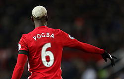 Rear view of Manchester United's Paul Pogba