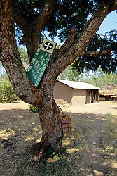 Earthwatch Sign in Tree