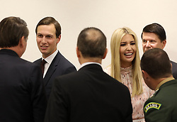 """Ivanka Trump (Advisor to the President of the United States) and her husband Jared Kushner - Side event organized by the Japanese Prime Minister, on the theme """"Promoting the place of women at work"""" at the Intex Osaka congress center at the G20 summit in Osaka, Japan, on June 29, 2019. Photo by Dominque Jacovides/Pool/ABACAPRESS.COM"""