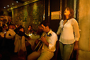 "Singer Carminho performing at restaurant ""Mesa de Frades"", an old chapel in Alfama typical neighborhood"