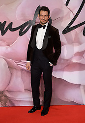 David Gandy attending The Fashion Awards 2016 at The Royal Albert Hall in London. <br /> <br /> Picture Credit Should Read: Doug Peters/ EMPICS Entertainment