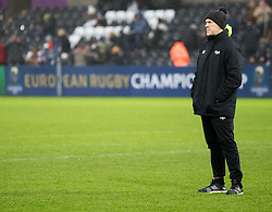 Ospreys' Head Coach Steve Tandy during the pre match warm up<br /> <br /> Photographer Simon King/Replay Images<br /> <br /> EPCR Champions Cup Round 4 - Ospreys v Northampton Saints - Sunday 17th December 2017 - Parc y Scarlets - Llanelli<br /> <br /> World Copyright © 2017 Replay Images. All rights reserved. info@replayimages.co.uk - www.replayimages.co.uk