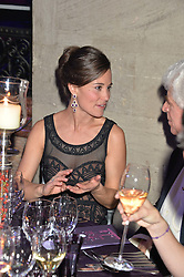 PIPPA MIDDLETON at the Sugarplum Dinner - The event was for the launch of Sugarplum Children, a new website and fundraising initiative for children who live with type 1 diabetes, and to raise money for JDRF (Juvenile Diabetes Research Foundation) held at One Mayfair, 13A North Audley Street, London on 20th November 2013.
