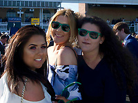 Grand National Meeting - Ladies' Day<br /> e.g. of caption:<br /> National Hunt Horse Racing - 2017 Randox Grand National Festival - Friday, Day Two [Ladies' Day]<br /> <br />   <br /> female racegoers before the 7th race Weatherbys Private Bank Standard Open NH Flat Race (Grade 2) (Class 1)2m 209y, Good<br /> 19 Runners.at Aintree Racecourse.<br /> <br /> COLORSPORT/WINSTON BYNORTH