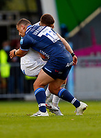 Rugby Union - 2021 / 2022 Gallagher Premiership - Round Three - Sale Sharks vs Exeter Chiefs - A J Bell Stadium - Sunday 3rd October 2021<br /> <br /> van Rensburg of Sale Sharks sent off <br /> <br /> Credit COLORSPORT/Lynne Cameron