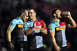 Dave Ward of Harlequins acknowledges the crowd after the match - Mandatory byline: Patrick Khachfe/JMP - 07966 386802 - 06/11/2015 - RUGBY UNION - The Twickenham Stoop - London, England - Harlequins v Sale Sharks - Aviva Premiership.