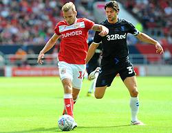 George Friend of Middlesbrough competes with Andreas Weimann of Bristol City - Mandatory by-line: Nizaam Jones/JMP- 18/08/2018 - FOOTBALL - Ashton Gate Stadium - Bristol, England - Bristol City v Middlesbrough - Sky Bet Championship