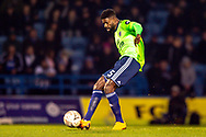 Cardiff City defender Bruno Ecuele Manga (5) during the The FA Cup 3rd round match between Gillingham and Cardiff City at the MEMS Priestfield Stadium, Gillingham, England on 5 January 2019. Photo by Martin Cole.