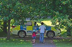 ©Licensed to London News Pictures 22/06/2020<br /> Greenwich, UK. Police on patrol in the park. A warm sunny day in Greenwich park, Greenwich, London. The UK to enjoy hot heatwave weather this week with temperatures set to bring the hottest day of the year so far. Photo credit: Grant Falvey/LNP