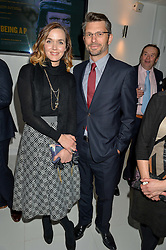VICTORIA PENDLETON and her husband SCOTT GARDNER at the London premier of Being AP held at Altitude 360, Millbank Tower, 30 Millbank, London on 23rd November 2015.