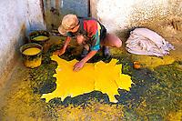 Maroc - Fés - Les souks de Fès el-Bali - Quartier des tanneurs