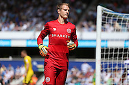 goalkeeper Alex Smithies of QPR looks on. Skybet EFL championship match, Queens Park Rangers v Leeds United at Loftus Road Stadium in London on Sunday 7th August 2016.<br /> pic by John Patrick Fletcher, Andrew Orchard sports photography.