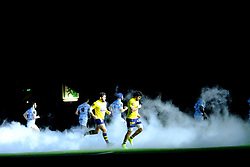 January 8, 2018 - Nanterre, Hauts de Seine, France - entry of players during the French rugby championship Top 14 match between Racing 92 and Clermont at U Arena Stadium in Nanterre - France.Racing won 58-6 (Credit Image: © Pierre Stevenin via ZUMA Wire)