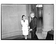 Hon Mrs. Janet de Botton and Dr. Gert Rudolf Flick. Lovis Corinth dinner. Tate. 17 February 1997. © Copyright Photograph by Dafydd Jones 66 Stockwell Park Rd. London SW9 0DA Tel 020 7733 0108 www.dafjones.com