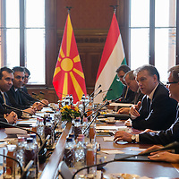 Nikola Gruevski Prime Minister of Macedonia and his counterpart Viktor Orban talk during their meeting in Budapest, Hungary on November 14, 2012. ATTILA VOLGYI
