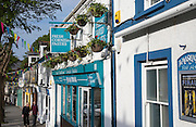 Shopping street in Falmouth, Cornwall, England, UK