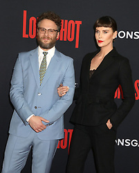April 30, 2019 - New York City, New York, U.S. - Actors SETH ROGEN and CHARLIZE THERON attend the New York premiere of 'Long Shot' held at AMC Lincoln Square. (Credit Image: © Nancy Kaszerman/ZUMA Wire)