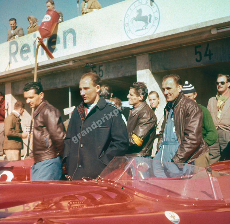 Stirling Moss with a Maserati sportscar at the Nurburgring, ca. 1956. Photo: Grand Prix Photo