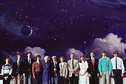 (1992) The Guertler's, a Mormon family, were all DNA fingerprinted in Salt Lake City, Utah. The family is shown in the Later Day Saints Tabernacle.  Left to Right:  Daniel Guertler, Christian Guertler, Hans E. Guertler, Bernice Guertler, Lucile Swenson, Hans K. Guertler, Karla Guertler, Klaus Guertler, Monika Nygaard, Andreas Guertler, Tony Guertler, Stefan Guertler. MODEL RELEASED..