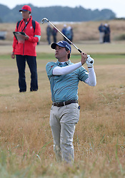 USA's Kevin Kisner takes his 2nd shot on the 18th during day two of The Open Championship 2018 at Carnoustie Golf Links, Angus. PRESS ASSOCIATION Photo. Picture date: Friday July 20, 2018. See PA story GOLF Open. Photo credit should read: Jane Barlow/PA Wire. RESTRICTIONS: Editorial use only. No commercial use. Still image use only. The Open Championship logo and clear link to The Open website (TheOpen.com) to be included on website publishing.