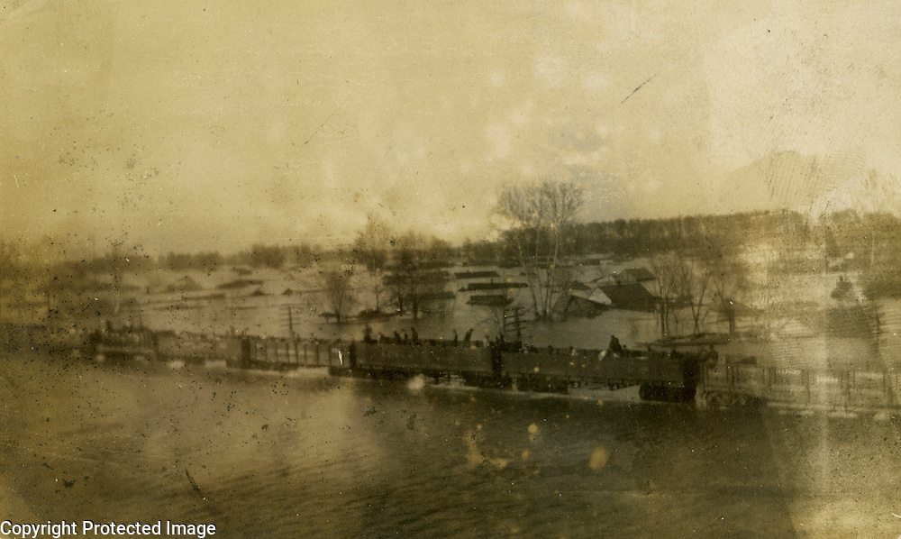 View of turn of 20th Century flooded Future City seen from Cairo Illinois