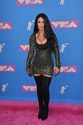 August 20, 2018 - New York, New York, United States - Jenni Farley arriving at the 2018 MTV Video Music Awards at Radio City Music Hall on August 20, 2018 in New York City  (Credit Image: © Kristin Callahan/Ace Pictures via ZUMA Press)