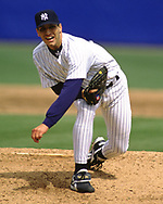 BRONX, NY - 1998: Andy Pettitte of the New York Yankees pitches during an MLB game at Yankee Stadium during the 1998 season. Pettitte pitched for the Yankees from 1995-2013.  (Photo by Ron Vesely) Subject:   Andy Pettitte