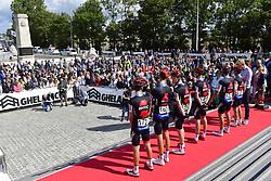 August 24, 2018 - Ieper, Belgique - IEPER, BELGIUM - AUGUST 24 : SCOTSON Miles (AUS)  of BMC Racing Team, SCHAR Michael (SUI)  of BMC Racing Team, VAN HOOYDONCK Nathan (BEL)  of BMC Racing Team, EVANS Alexander, DRUCKER Jean-Pierre (LUX)  of BMC Racing Team, GERRANS Simon (AUS)  of BMC Racing Team   during the Flanders Classics 1st Great War Remembrance cycling race with start in Nieuwpoort and finish in Ieper on August 24, 2018 in Ieper, Belgium, 24/08/2018 (Credit Image: © Panoramic via ZUMA Press)