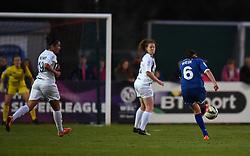 Caroline Weir of Bristol Academy Women takes a shot at the Birmingham goal - Mandatory by-line: Paul Knight/JMP - Mobile: 07966 386802 - 05/09/2015 -  FOOTBALL - Stoke Gifford Stadium - Bristol, England -  Bristol Academy Women v Birmingham City Ladies FC - FA Women's Super League