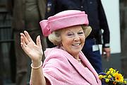 Koninginnedag 2008 / Queensday 2008. <br /> <br /> Koningin Beatrix viert Koninginnedag dit jaar in Friesland. De vorstin en haar familie bezochten op 30 april Makkum en Franeker.<br /> <br /> Queen Beatrix celebrates Queensday this year in Friesland (the Nothren provice in Holland). The Queen and its family visited Makkum and Franeker on 30 April.<br /> <br /> Op de foto/ On the Photo: Koningin Beatrix / Queen Beratrix