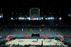 Players in Arena during practice session of Team Slovenia at Day 3 in Group C of FIBA Europe Eurobasket 2015, on September 7, 2015, in Arena Zagreb, Croatia. Photo by Vid Ponikvar / Sportida