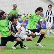 Altayspor's Burak CALIK (C) during their Turkish soccer Play Off final match Altayspor between Konyaspor at Ataturk Olympic Stadium in Istanbul Turkey on Sunday, 23 May 2010. Photo by TURKPIX